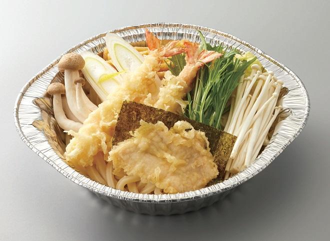 【~1/31期間限定メニュー】海老・鶏天 鍋焼きうどん