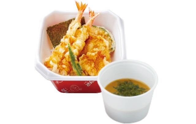 【新春キャンペーン】海老と鶏の天丼+みそ汁 590円→500円