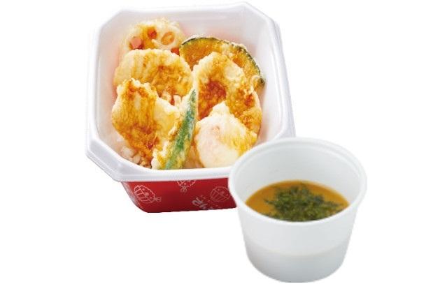 【新春キャンペーン】鶏たま天丼+みそ汁 590円→500円
