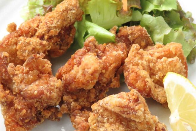 鶏の唐揚げガーリック塩