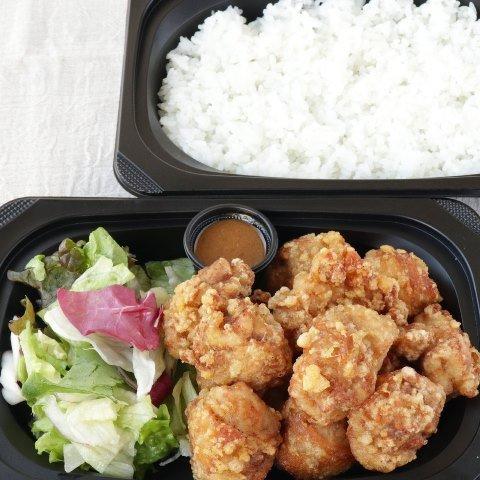 唐揚げライスBOWL(玉ねぎ醤油ソース)