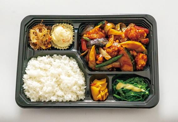 春野菜と鶏の黒酢あん弁当
