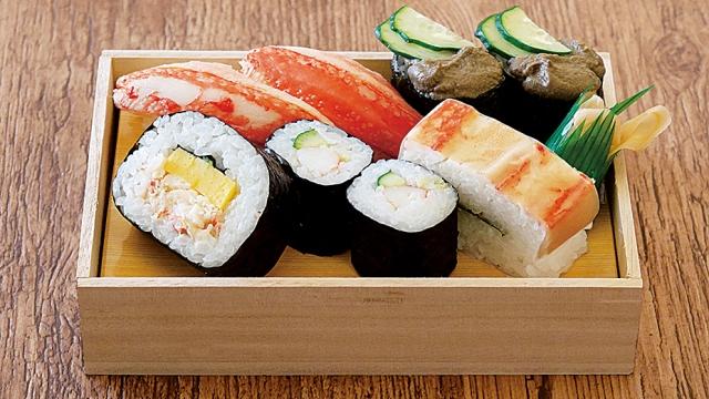 かに寿司盛り合わせ折(ワサビ入り)