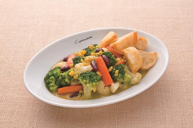 彩り温野菜のポテトフライ添え