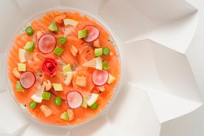 キングサーモンの花ぐるま 彩りちらし寿司