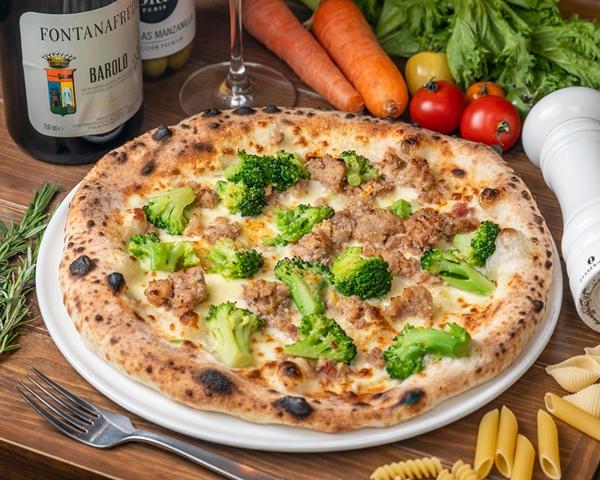 イベリコ豚サルシッチャとブロッコリーのピッツァ