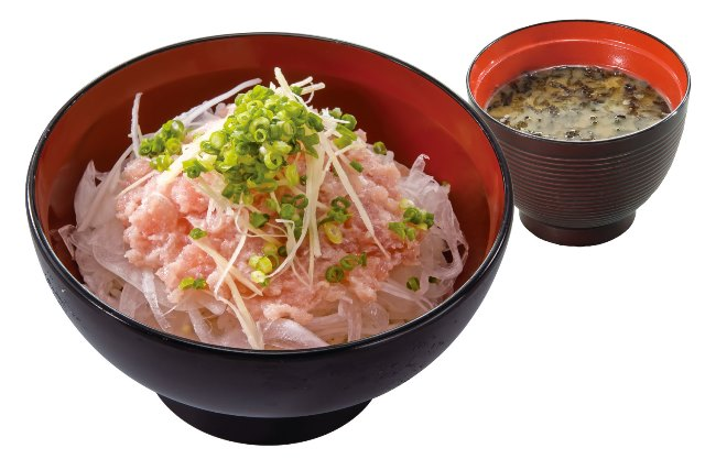 ネギトロ丼(のり汁付)Negitoro rice Bowl with soup
