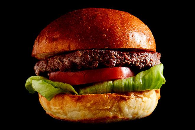 国産牛肉のハンバーガー