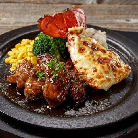 ロブスターの黄金焼き&カットステーキ