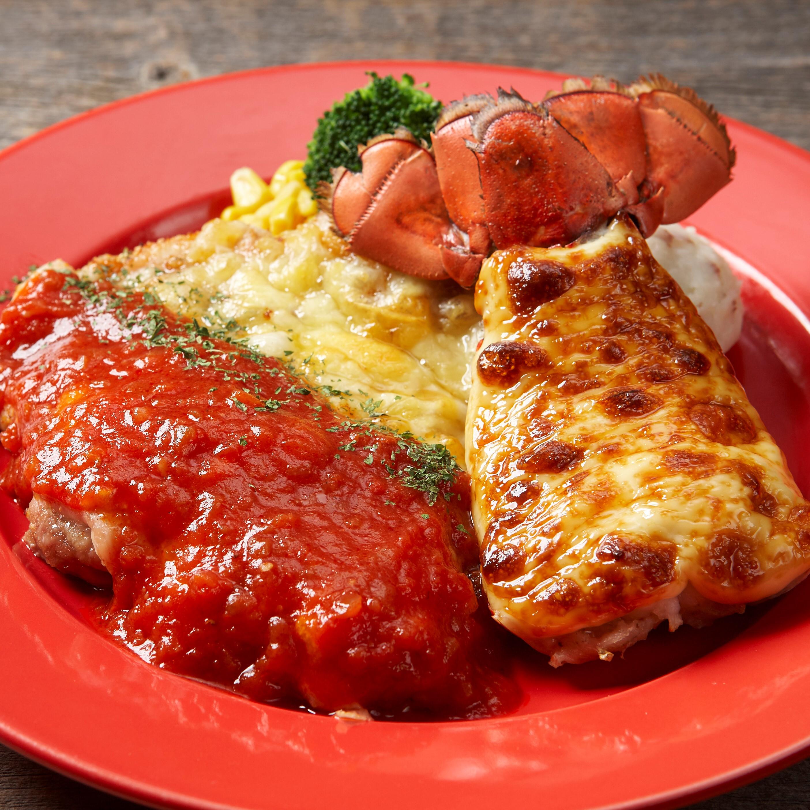 ロブスターの黄金焼き&チキンミラネーズ
