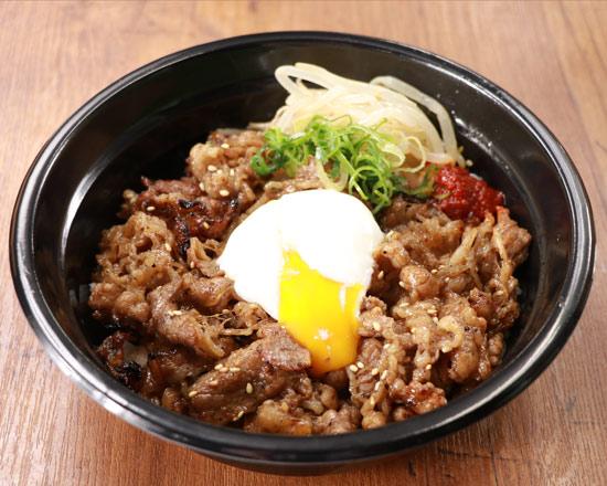 半熟玉子の牛カルビ丼 Short Rib Beef Bowl with Soft-Boiled Egg
