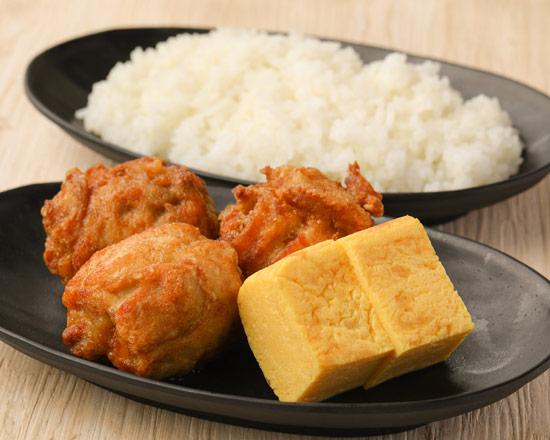げんこつ唐揚げ弁当(3個) Big size deep-fried chicken lunch box (3 pieces)