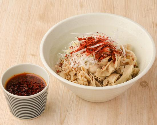 肉辛つけそば Spicy pork dipping soba noodles