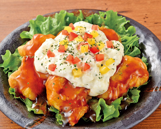 チキン南蛮 Fried Chicken with Vinegared Tartar Sauce