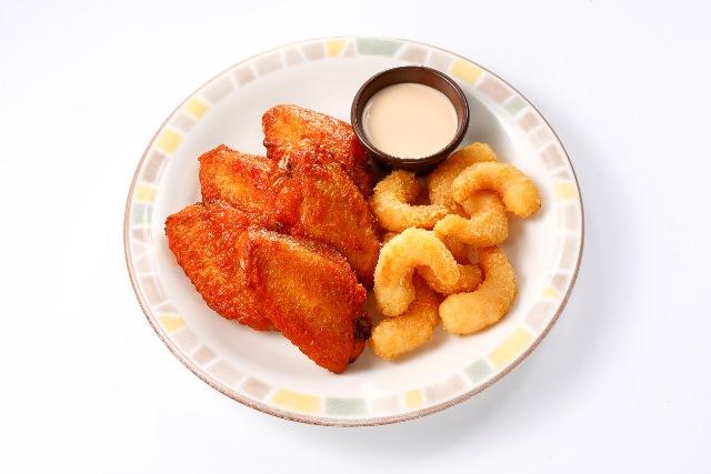辛味チキン&ポップコーンシュリンプ