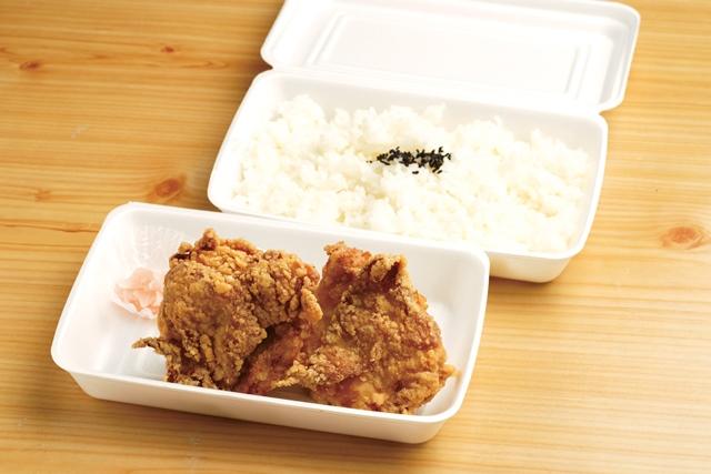 白の塩から揚げ弁当(むね3個)