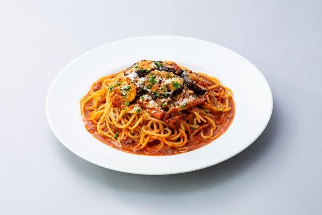 ナスのポロネーゼスパゲティ