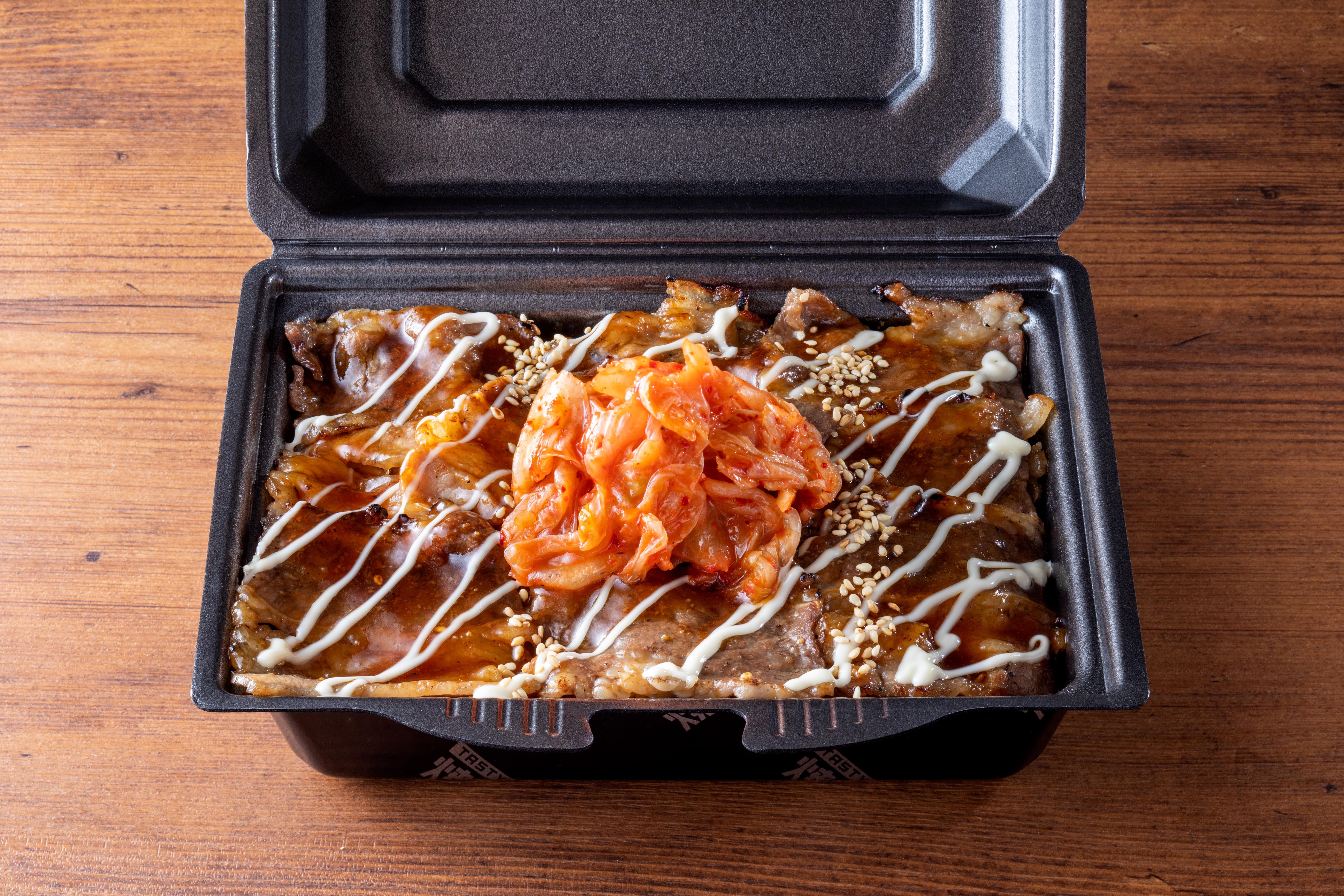 キムマヨ牛カルビ弁当 肉ダブル