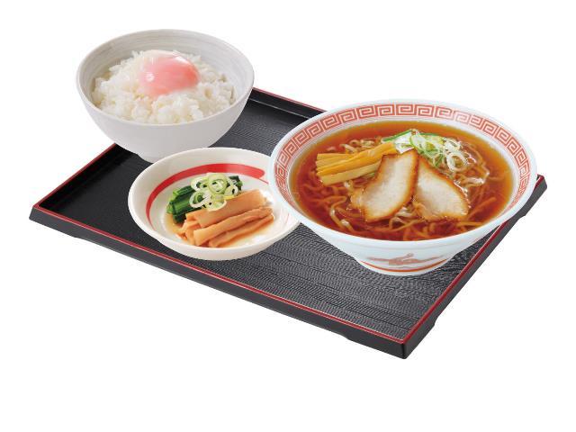 中華そばクラシック朝定食(8:00~10:45の販売)