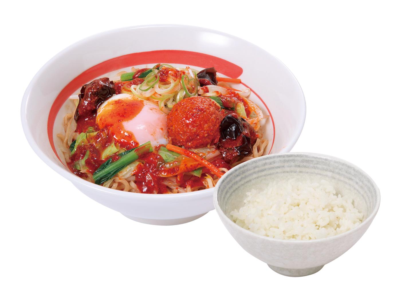 台湾野菜まぜめん(辛シビ)ライスセット