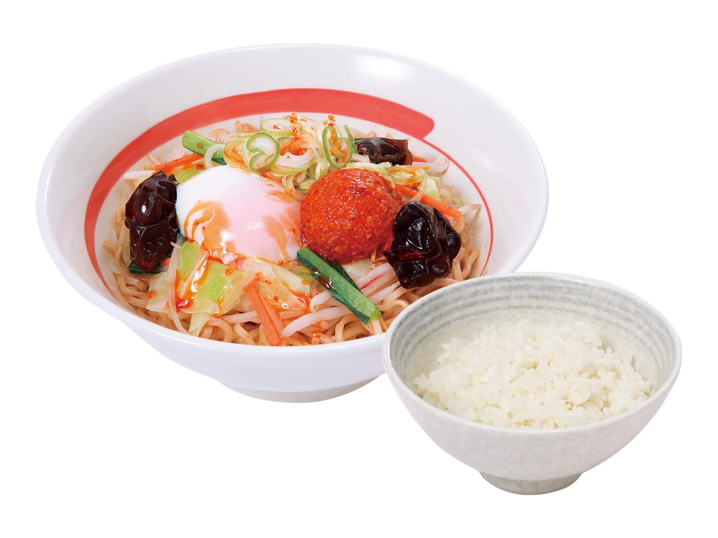 【期間限定!半熟煮卵プレゼント中】台湾野菜まぜめん(ピリ辛)ライスセット
