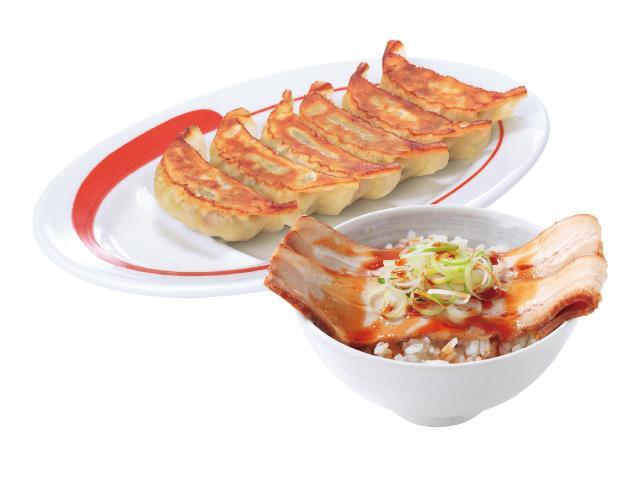 6個餃子チャーシュー丼プレミアムセット