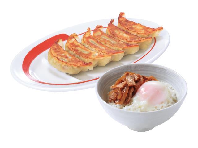 6個餃子玉丼セット
