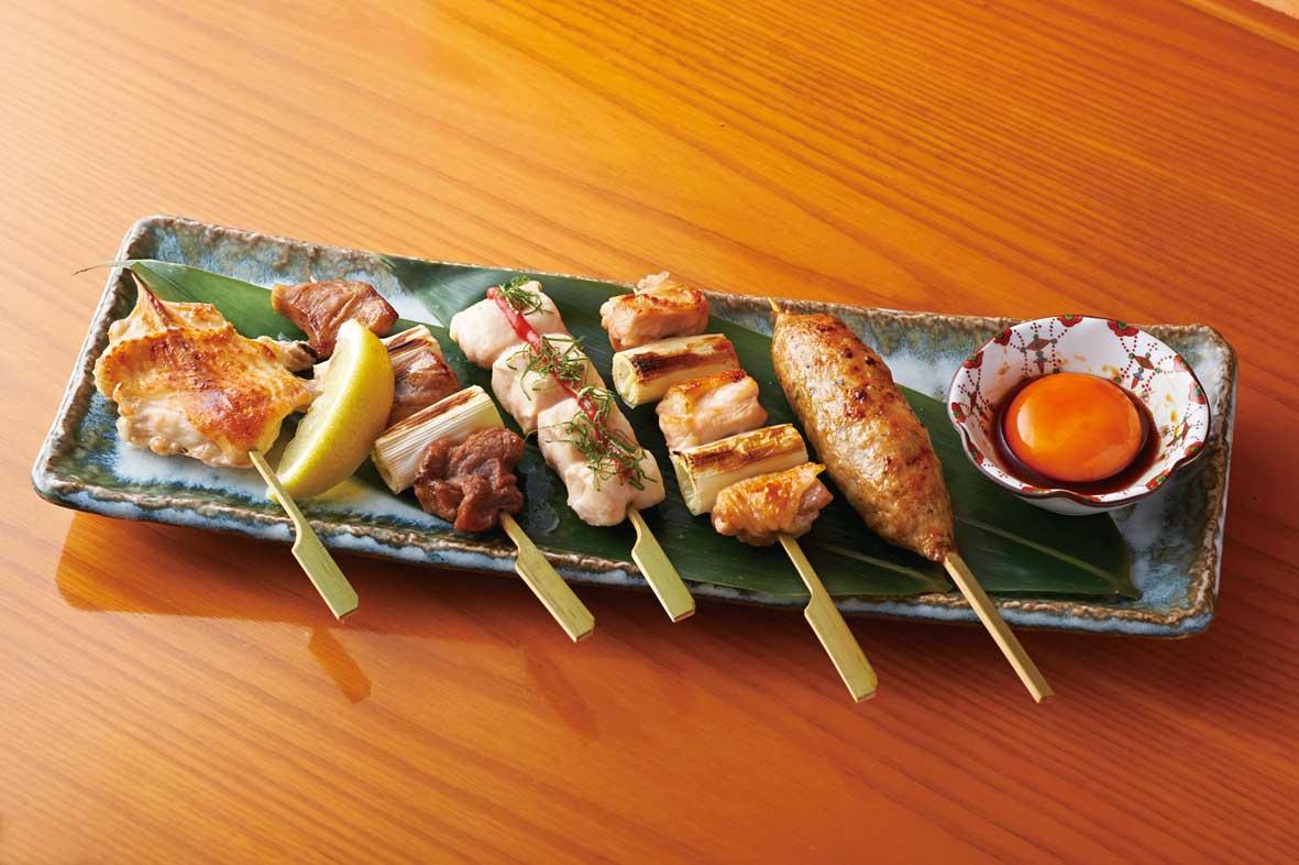 大山鶏の串焼きおまかせ5本盛り