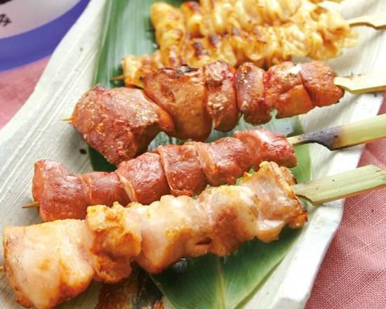 【焼き鳥】国産鶏の串焼き6本盛り