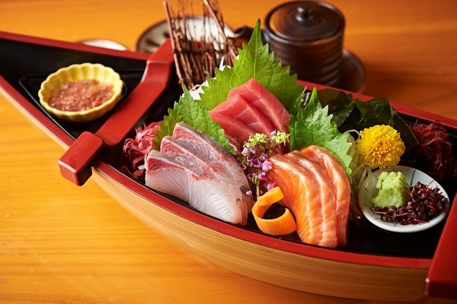 市場直送鮮魚のお刺身3品盛り・3人前