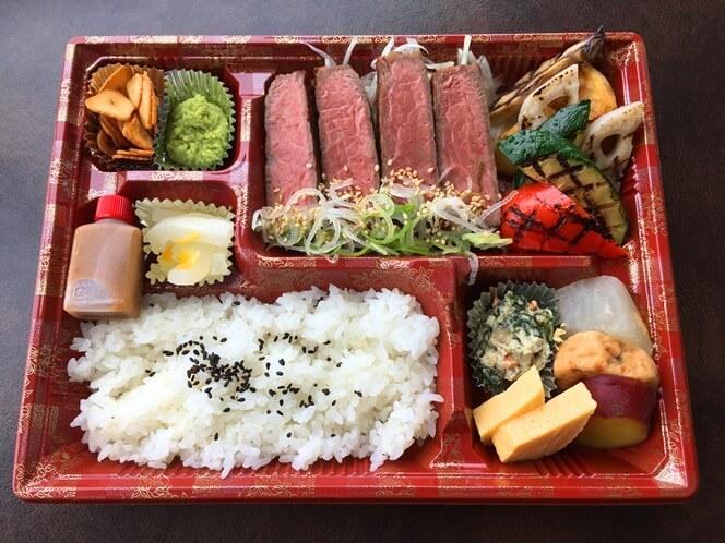 (潮路特製ステーキ弁当)神戸牛サーロイン弁当