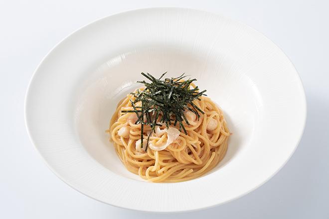 京水菜と小柱のからし明太子クリーム