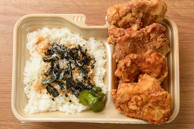 唐揚げ弁当  (醤油4個入り)