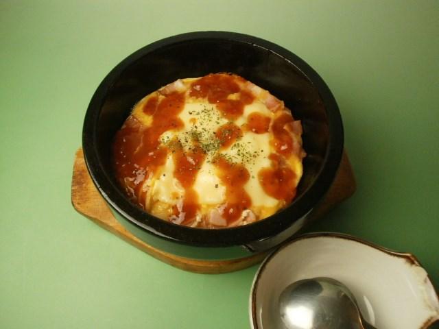 石焼トマトチーズ豆乳オムレツ