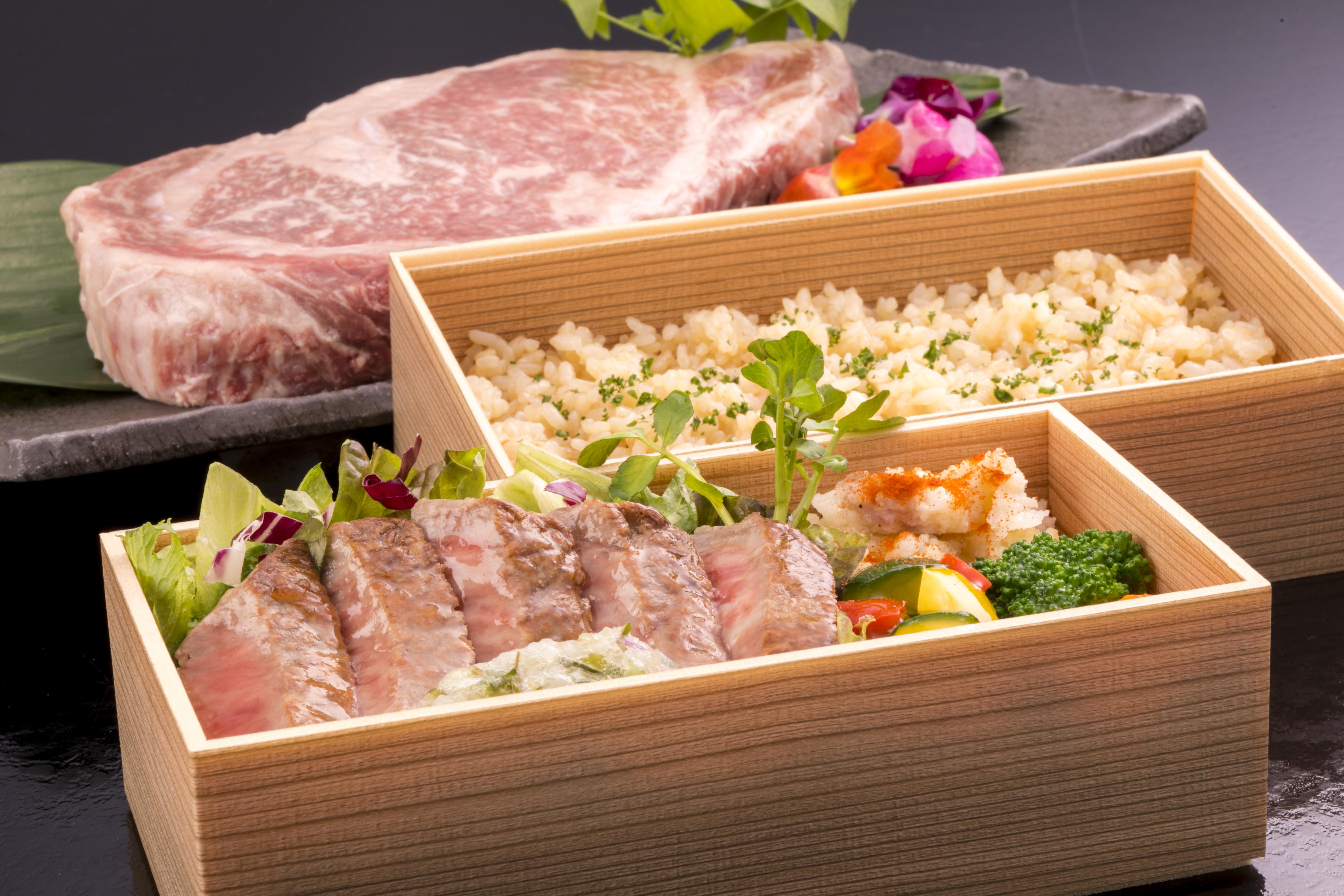 国産牛ステーキ弁当 【前日の15時までのご予約】