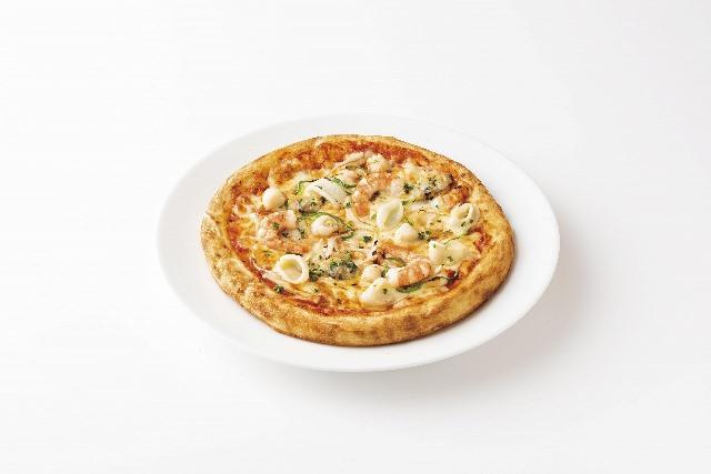 シーフードのミックスピザ