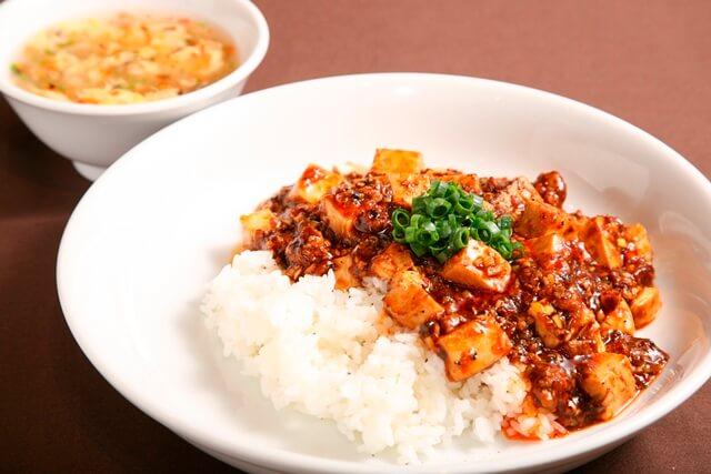 麻婆豆腐丼(スープ付き)