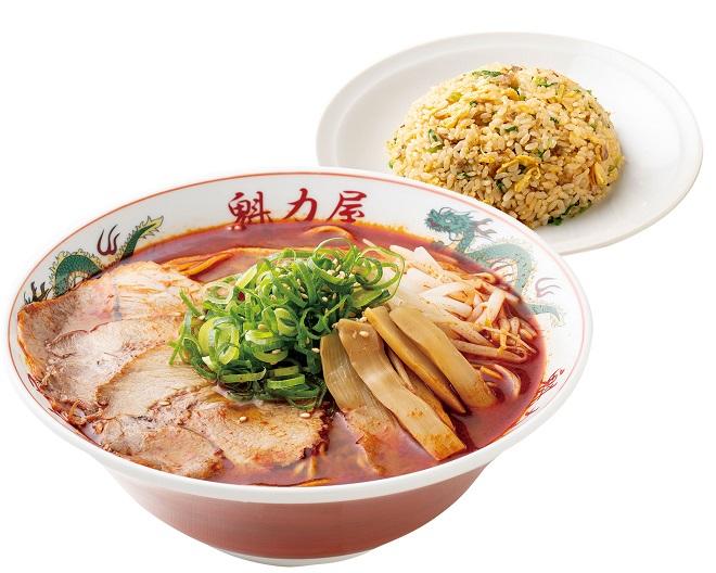 辛みそラーメン(レンチンタイプ)(並)+焼きめし(小)セット