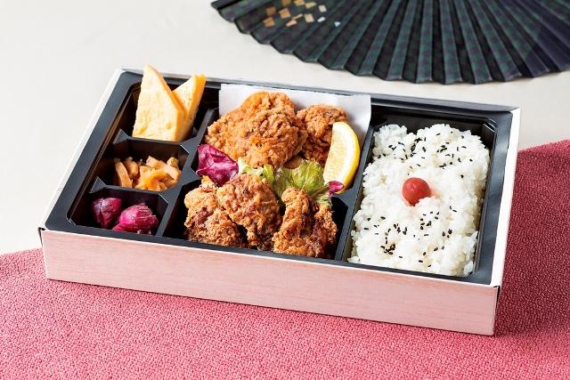 竜田揚げ弁当 ~鮪、鯨食べ比べ~