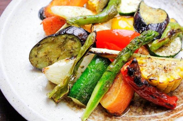 色々お野菜の薪窯焼き