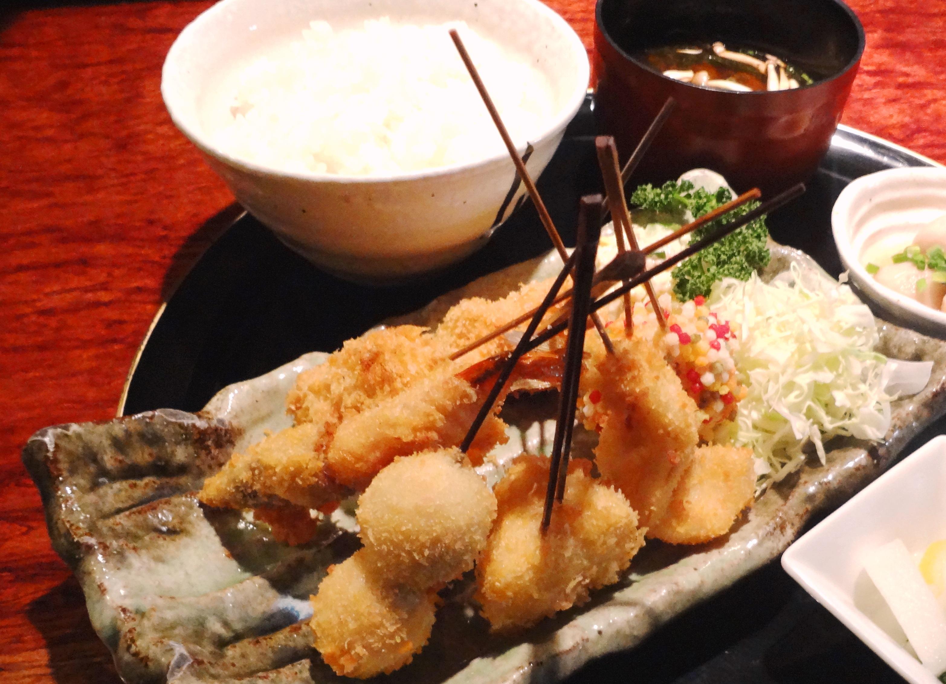 【弁当】串揚げ5本弁当
