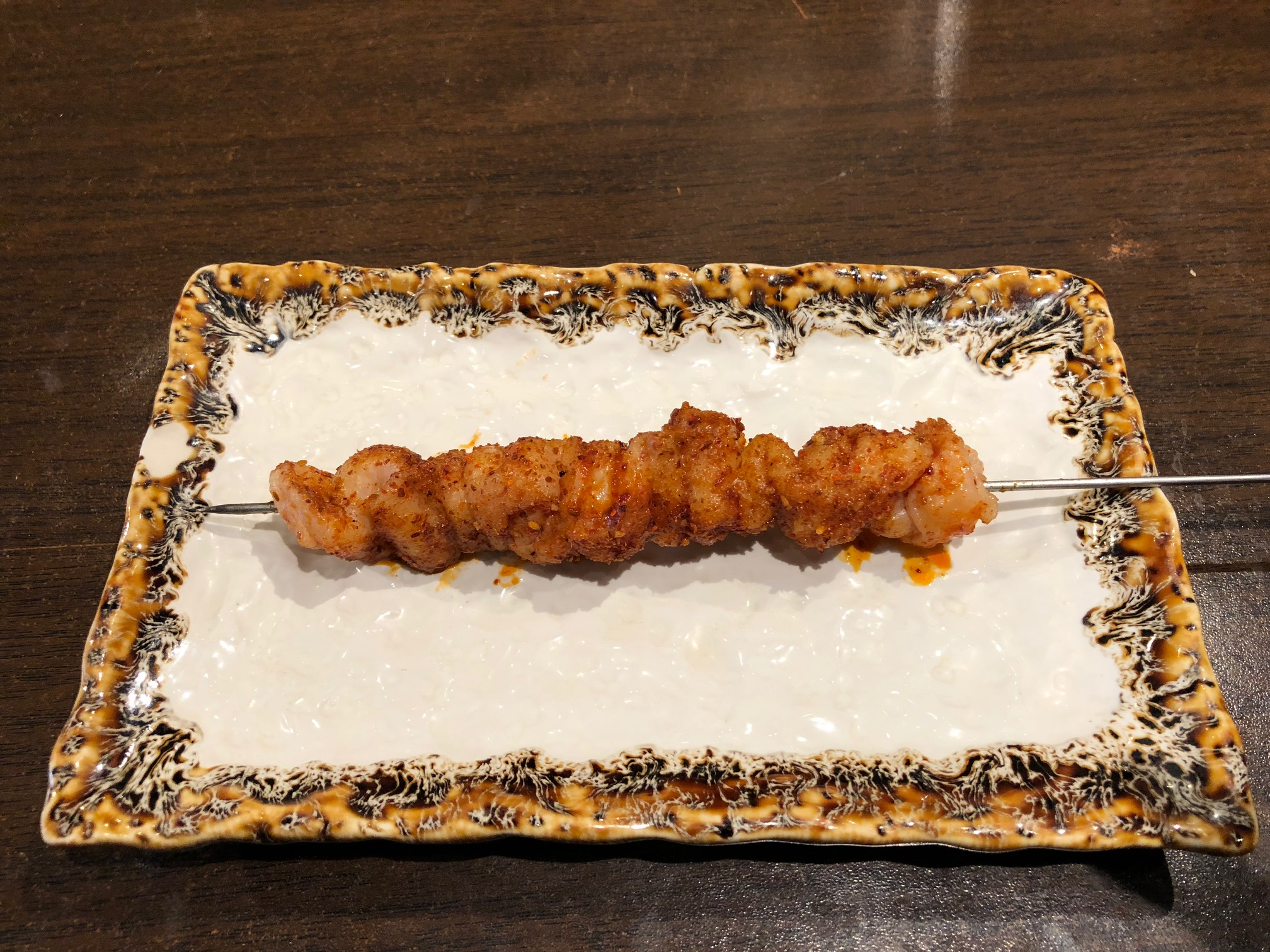 モンゴル風串焼き(鶏皮)