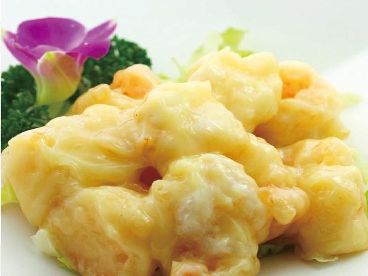 芝海老の卵白マヨネーズ炒め