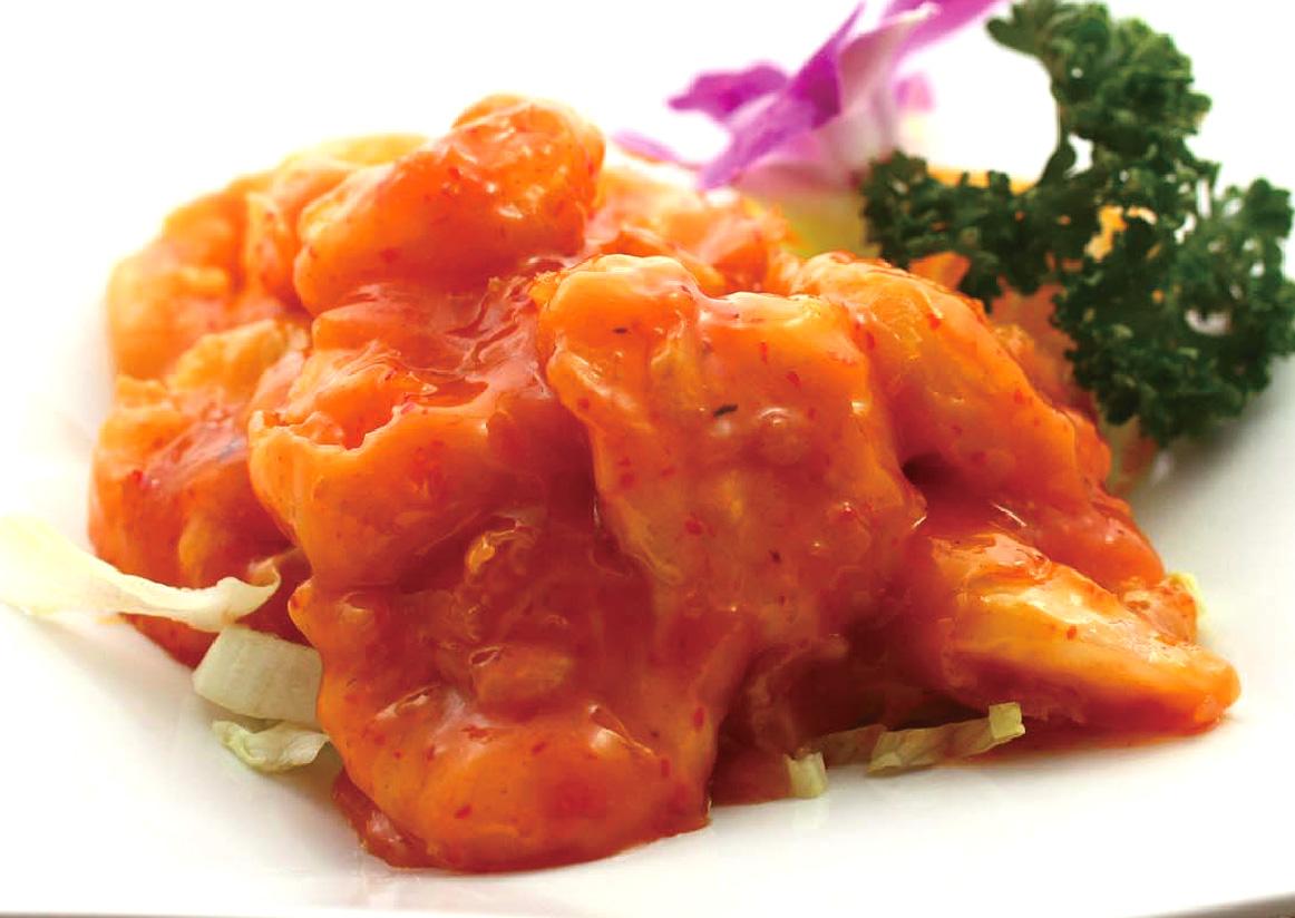 芝海老の卵黄マヨネーズ炒め
