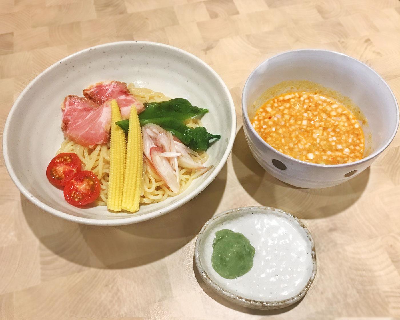 夏野菜のさっぱりつけ麺