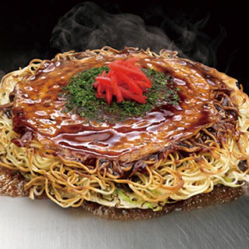 肉玉そば広島焼  (豚肉 / 秘伝  特製ソース)