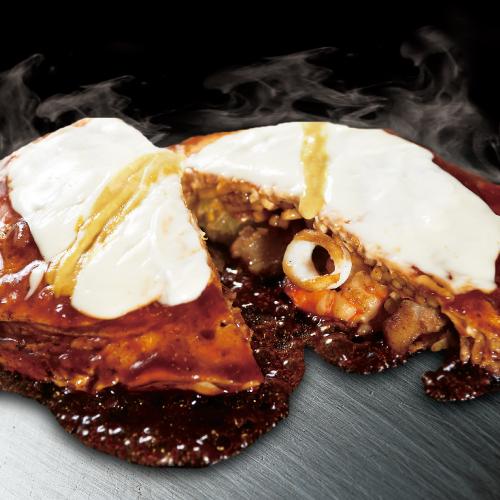 ミックスモダン焼 (ポーク・いか・えび / 食品  添加物無使用 特製ソース)